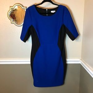 Bisou Bisou blue and black party dress